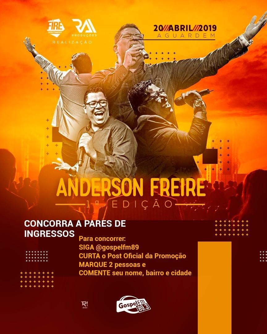 INGRESSOS DO SHOW DO ANDERSON FREIRE