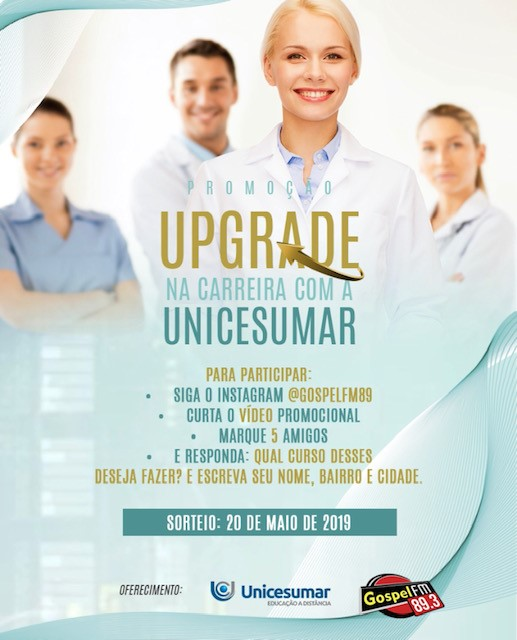 UPGRADE NA CARREIRA COM A UNICESUMAR