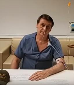 """Bolsonaro faz live do hospital: """"Agradeço a Deus em 1º lugar"""""""