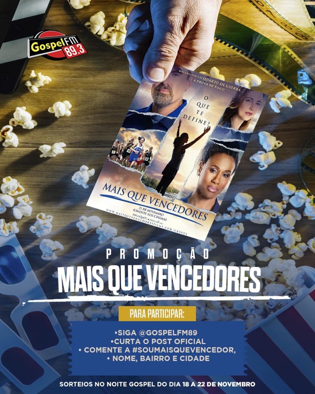 """Ingressos pro FILME """"MAIS QUE VENCEDORES"""""""
