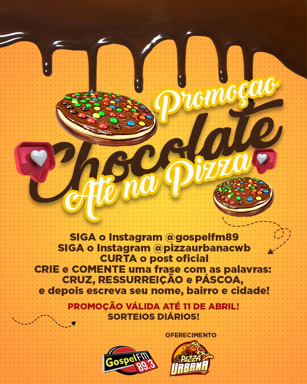 """CHOCOLATE ATÉ NA PIZZA"""