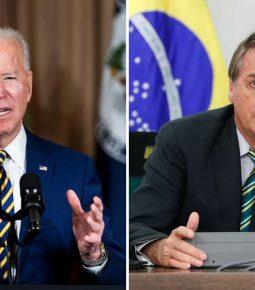 Em carta a Bolsonaro, Biden promete estreitar parceria com Brasil