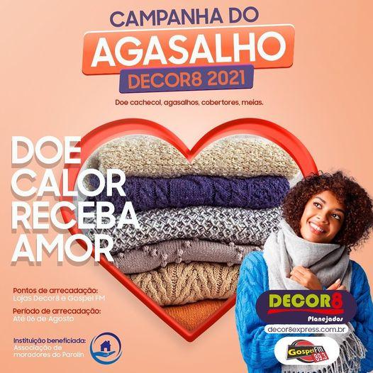 """CAMPANHA DO AGASALHO: """"DOE CALOR, RECEBA AMOR"""""""