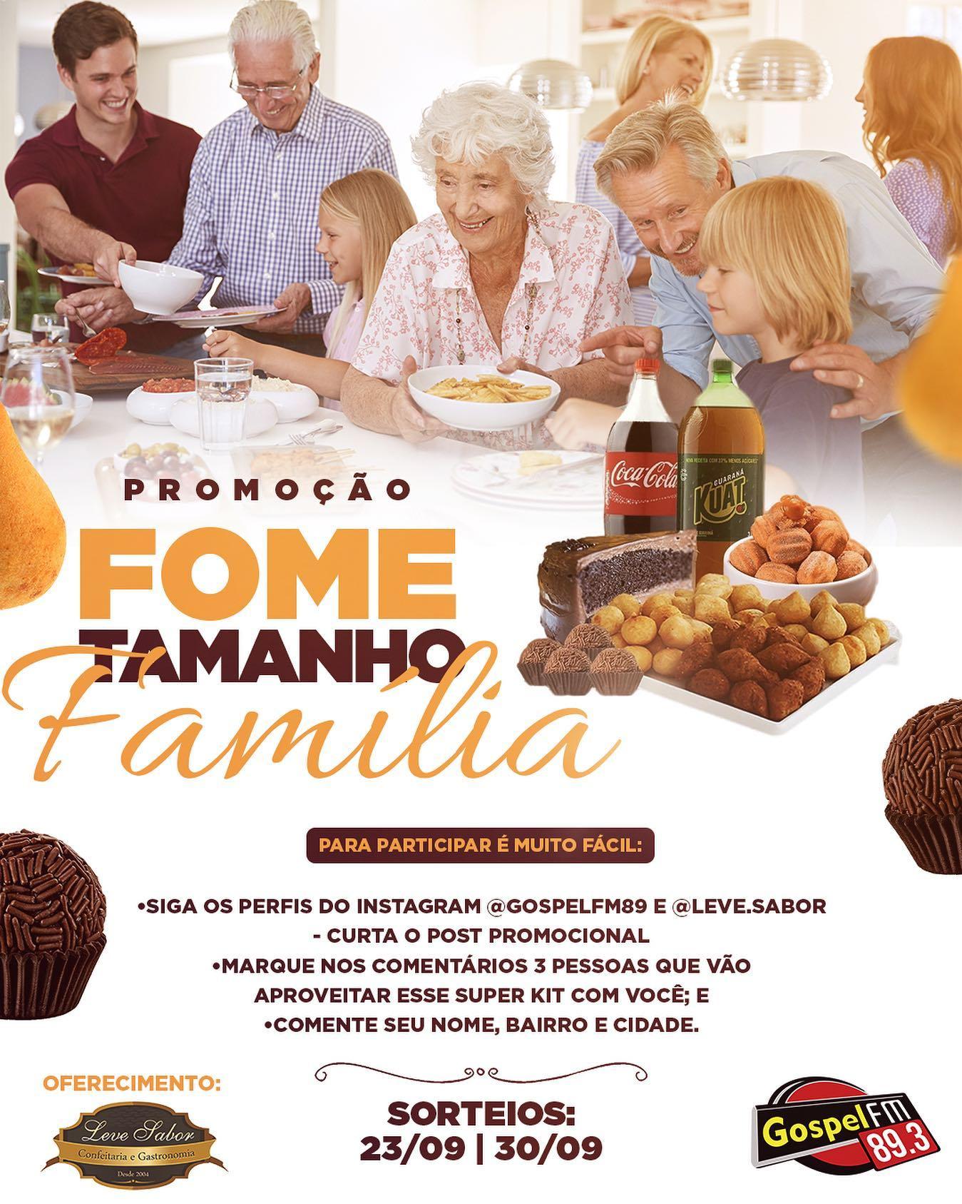 FOME TAMANHO FAMÍLIA